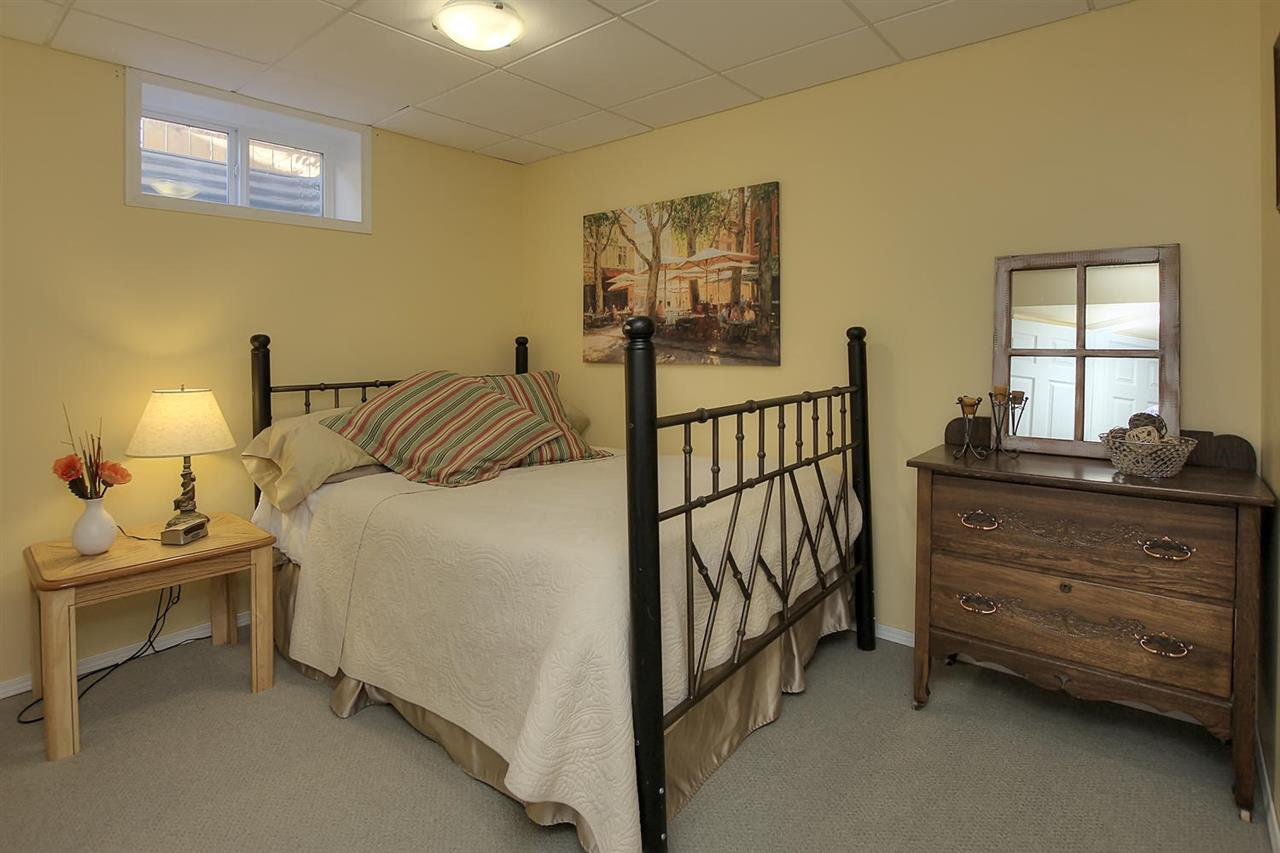 The 5th bedroom is located in the lower level also. It does have space for your guests or your teen or even an nanny if you are lucky enough to have one.
