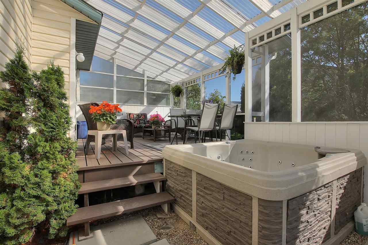 This will be your favourite spot in this home for many reasons. The hot tub can stay if you want it, but if not, the owners will be glad to take it with them.