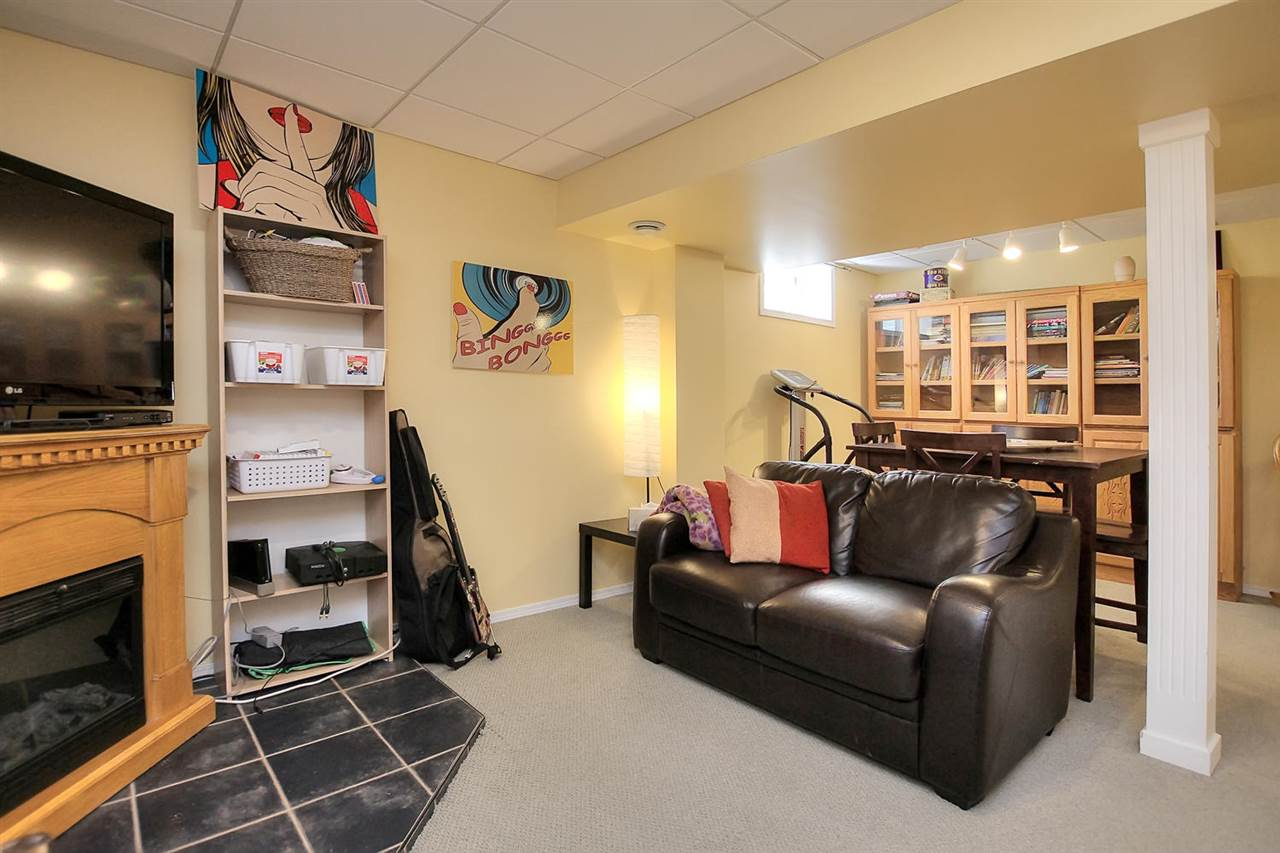 The lower level family room can be separated if you like or keep it all one sitting area.