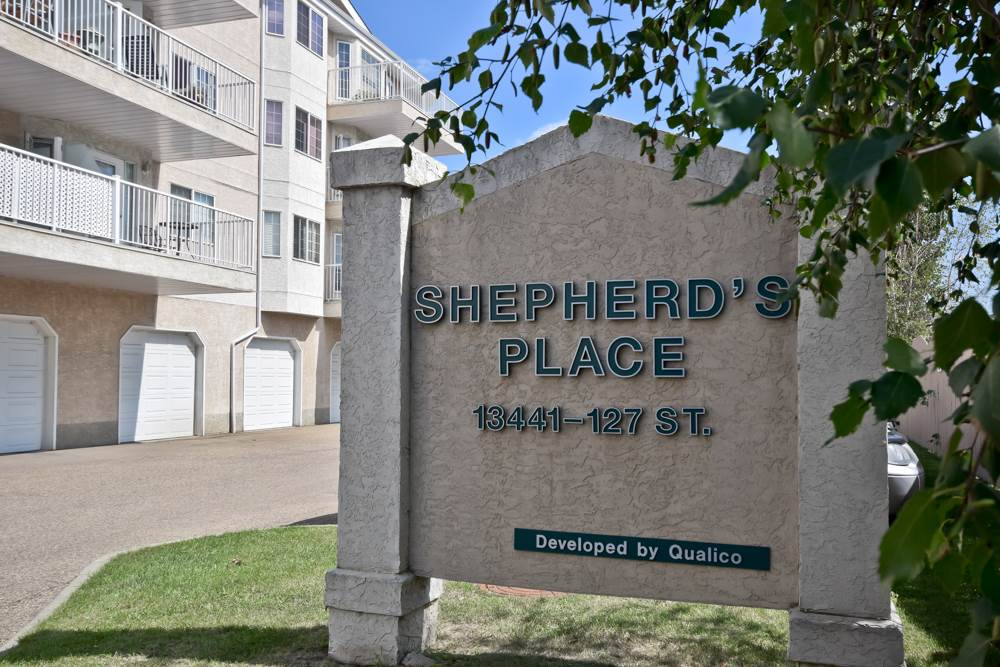 3rd floor unit, two large bedrooms,master bedroom has large closet, handicap accessible four piece bathroom, insuite laundry and storage room, and large eat in kitchen and open living room! Large south balcony provides beautiful view of the city skyline. Shepherd's care offers a restaruant, gift shop, onsite medical/homecare, pharmacy, beauty salon, wellness centre, graduated care, games room, chapel, physical therapy clinic, and private outdoor coutyard. Condo fees include, heat, water, and cable TV. Scheduled monthly activities.