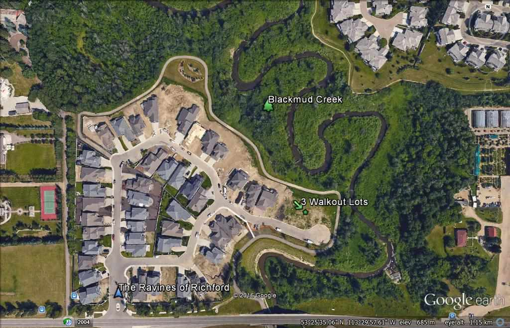 "Prime Walkout 0.2 of an acre building lot backing Blackmud Creek in the exclusive gated community of individually-owned single family homes, ""The Ravines of Richford"".  Bring your own builder, 52' Pocket, extra large lot in small cul de sac with no one across the street!  This unique gated ROHIT development features common area maintenance and snow clearing to your front door. 2 additional lots available."