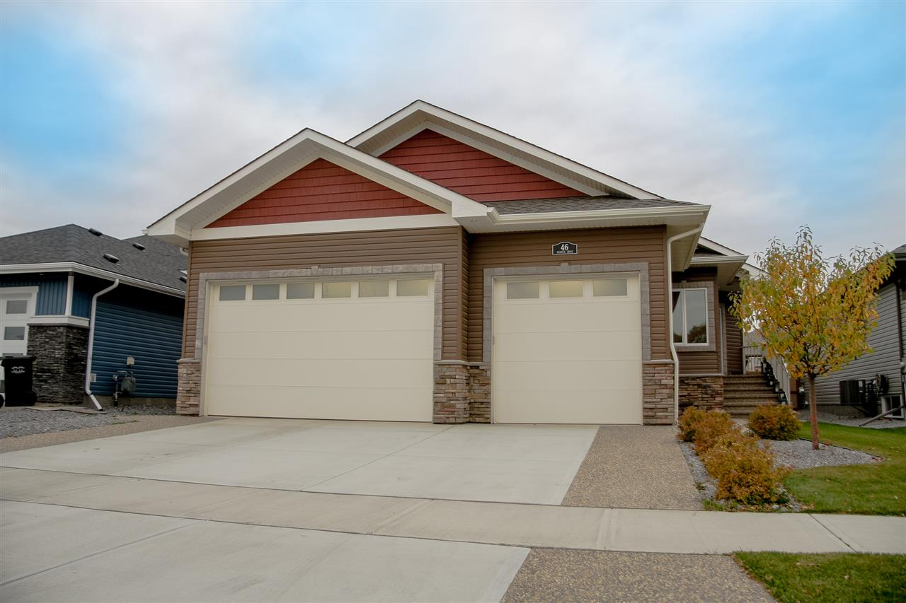 Come & see this fully developed 1656sq ft 2+2 bed, 2.5 bath executive style bungalow that's sure to impress. Open concept w/soaring vaulted ceilings. Entertain from your maple kitchen w/white quartz counters, 6 burner gas range w/dual ovens, island w/breakfast bar & more. Gorgeous cultured stone fireplace & wall to wall cabinets in living room. Clean & durable Makati engineered hardwood on main. 2 spacious beds on main, master w/his n' her WI closets & gorgeous 4pce ensuite w/dual sinks & spectacular shower! Main floor laundry offers tons of maple cabinets & sink. Maple iron railing leads you to bsmt w/engineered vinyl plank floors w/infloor heat. Impressive while serving guests in your family room w/full wet bar (granite). 2 more beds & full bath in bsmt.  Central air. Fenced & landscaped yard w/large deck w/outdoor speakers & shed. Dream triple garage with infloor heat, 2 water facets, drains & faux stone flooring. High end home theater system is negotiable.