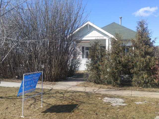HAPPY BIRTHDAY!!  This Ryley home turns 100 years old in 2017!   Nicely upgraded 2 bedroom bungalow featuring 9 foot ceilings, hardwood floors, and den located in the Village of Ryley, just 50 minutes east of Edmonton and Sherwood Park and 1 hour from the Edmonton International Airport (YEG).  Built in 1917 but updated with newer windows and kitchen cabinets.  Main floor laundry, single detached garage.  Large lot (75 ft x 130 ft).  Ryley offers a public swimming pool, library, bank, 7-12 school.   Good starter or investment property.  Own a piece of history!! Welcome home!