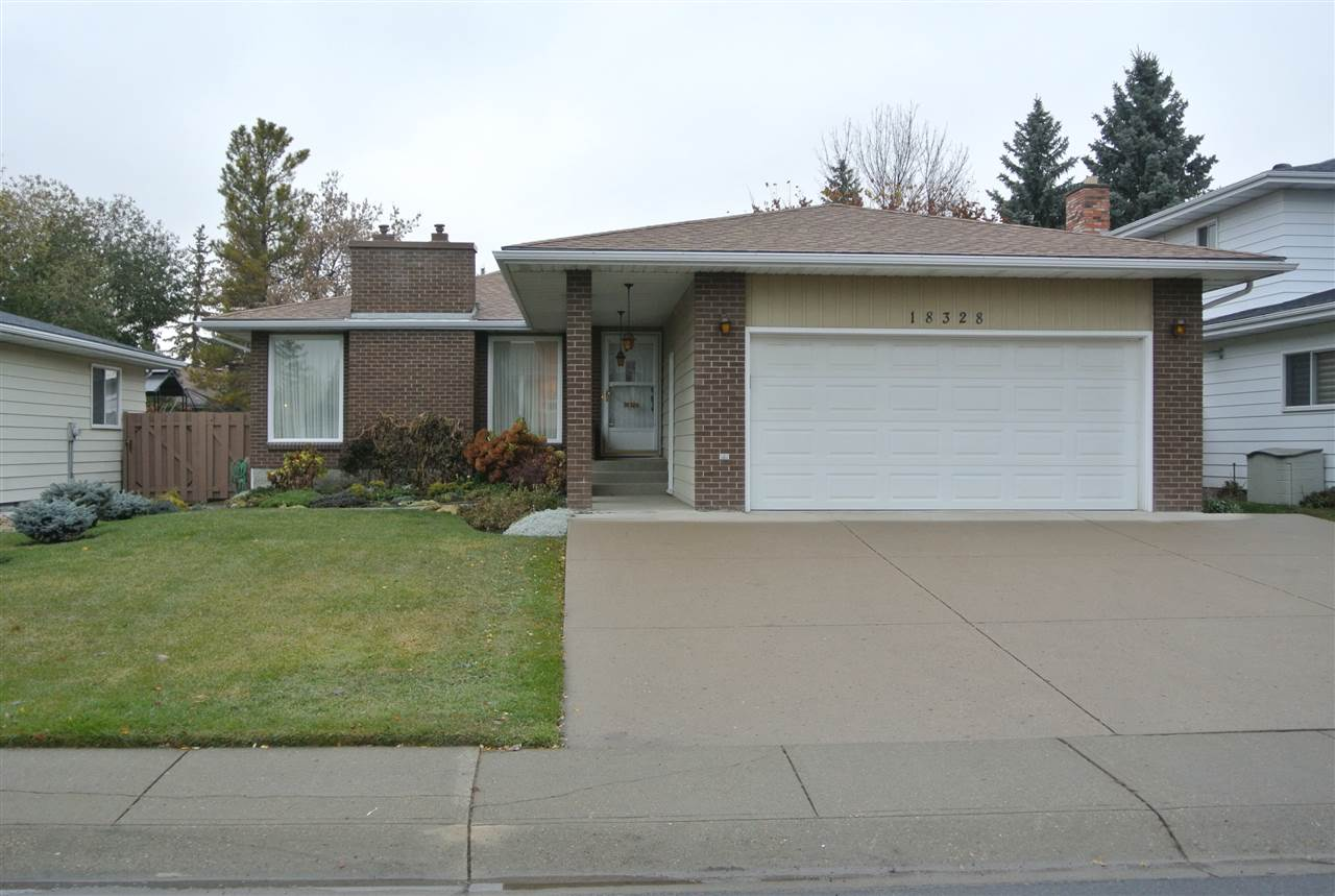 Rare find, large 3 bedroom bungalow with an attached front garage in a superb West End location.  This Original Owner home was built by Eckert & Smith, a well known premier Edmonton builder.  Featuring a large kitchen with a dinette space, a spacious main floor living and dining room and 3 main floor bedrooms. The master bedroom offers a full private bathroom.  This home also features 2 Gas Fireplaces, CENTRAL AIR CONDITIONING, Immaculate landscaping, has DOUBLE DRYWALLED interior walls ( more sound proofing), has newer shingles, a large garden shed , TWO FURNACES, central vacuum and a water conditioner. In the fully finished lower level is a huge family - recreation room with a wet bar, a summer kitchen, storage rooms, and a full bathroom.  Easy - quick access to several main roads , close to West Edmonton Mall, schools, Callingwood mall, the Whitemud and the Anthony Henday freeways. Quick possession is possible!