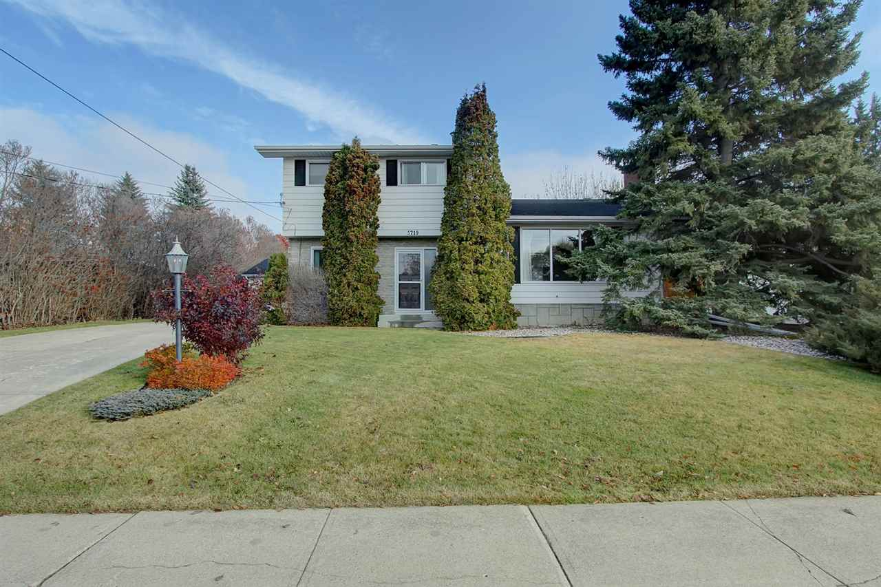 Perfect Park Like Paradise In PleasantView.  Simply one of the most desired lots in one of the most desirable neighbourhoods in Edmonton.   Same owners for the past 32 years.  Truly a DREAM LOT that will take your breath away.  Approx 75 x 145 almost 11,000 square feet with beautiful hedges, fruit trees wonderful birds that visit every day.  VERY WELL MAINTAINED 4 level split with 4 bedrooms and 2.5 bathrooms. Approx. 1600 sq ft on top 3 levels.   Double detached oversized garage with heater and work benches. Up the front step into the generous entryway and your greeted by gleaming hardwood. Bedroom on the main could be used as den. Huge living dining area with lovely fireplace. wonderful bright kitchen overlooking your garden utopia. Upstairs offers 3 bedrooms and 4 piece bath. Close to everything, Southgate, LRT, Whitemud, Gateway Blvd, Henday, UofA and only minutes from downtown, Whyte ave.  All lot and property measurements are approximate and to be confirmed by purchaser.