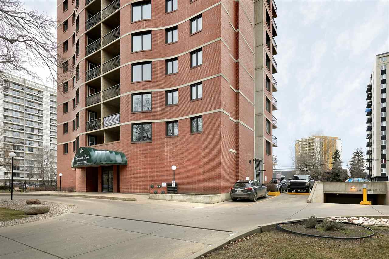 Urban Lifestyle at its best... Amazing 9th floor RIVER VALLEY VIEW, located on a quiet street in Grandin, just steps from all the action. This large 710sqft one bedroom condo offers a gourmet kitchen, spacious living room with ample dining space for large gatherings, 4 piece bathroom, spacious master bedroom, a storage room and underground parking stall complete this unit (laundry located on same floor). Enjoy a glass of wine and watch the sunsets on the southwest facing balcony. Short walk to Jasper Ave amenities and Grandin LRT station. Whether you are looking for your own condo or you are an investor/landlord looking for a great condo with an amazing view, this one is for you!