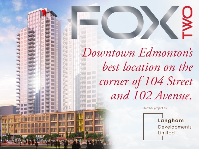 Newest addition to the most sought after Downtown Street; FOX Two under construction on the vibrant 104th Street. The 2 bedroom + 2 full baths features; SS appliances, spacious open floor plan, kitchen with quartz & island, lots of windows including curtain wall, large West facing balcony. Superb location on a street filled with unique local restaurants, shops and cafes. The Business/Financial Hub, Ice (Arena) District, Fine/Casual Dining, Theater, Arts, Fitness, Shopping, Transportation, River Valley, U of A, MacEwan and NAIT are all within minutes. Live the Urban Lifestyle with the LRT a few paces away connecting you with the city including the U of A, Southgate and very soon NAIT and West Edmonton. Enjoy the 104 St Farmer's Market May through early Oct out your front door. Feel the international vibe on what is definitely the most trendiest and vibrant street Downtown. Completion is proposed for September 2017. Price includes GST.