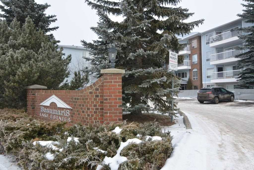 Welcome to this beautiful 2 bedroom, 2 bathroom top floor condo located on Beaumaris Lake.  This property is an 18+ building, no pets permitted, and features a social room with kitchenette and games, exercise room and sauna!  The unit itself features an open kitchen / living / dining room with upgraded flooring. The appliances in the kitchen are upgraded to stainless steel.  There is plenty of space for a dining room table and the living room has large sliding patio doors opening to the balcony.  The master bedroom features beautiful large windows, a walk-through closet with access to the ensuite.  The second bedroom is plenty big enough for a queen bed and has easy access to the main bathroom. There is insuite laundry with lots of storage ? perfect for seasonal items. A fantastic Christenson built property. Welcome Home.