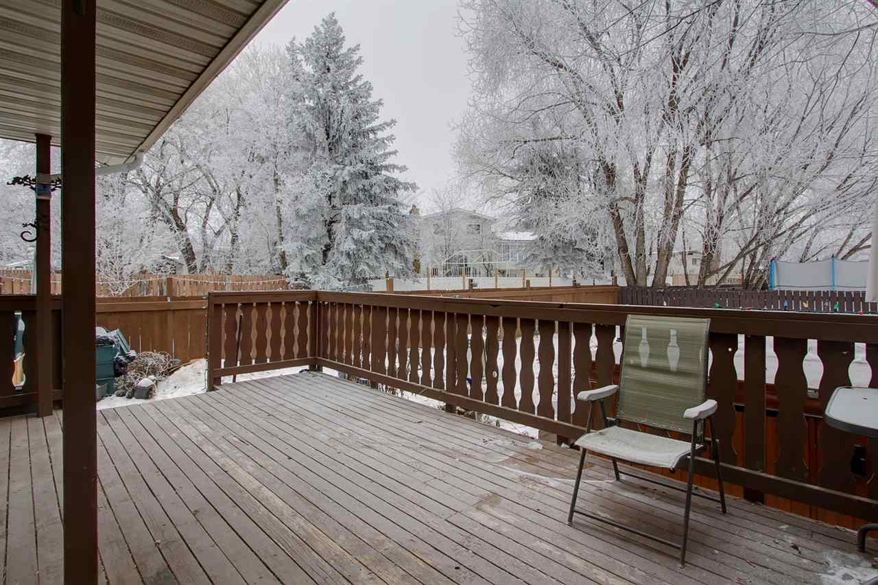 The large deck has ample space for a table and chairs plus some space for sun bathing.