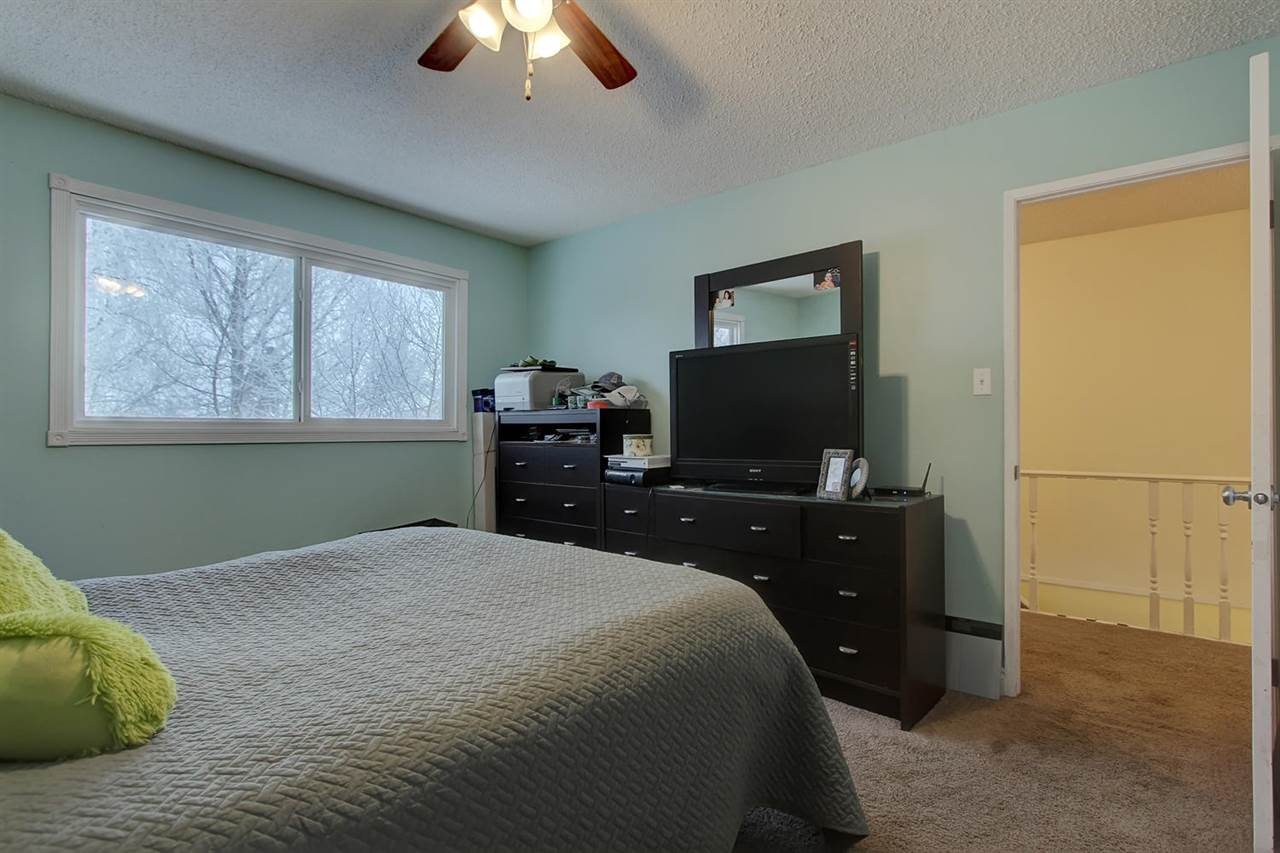 The master bedroom view shows room for a large dresser with mirror that can be hard to fit in some bedrooms.