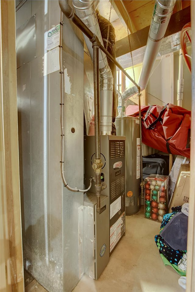 The furnace was replaced in 2008 and the hot water tank in 2014.. There is also roughed in central vac.