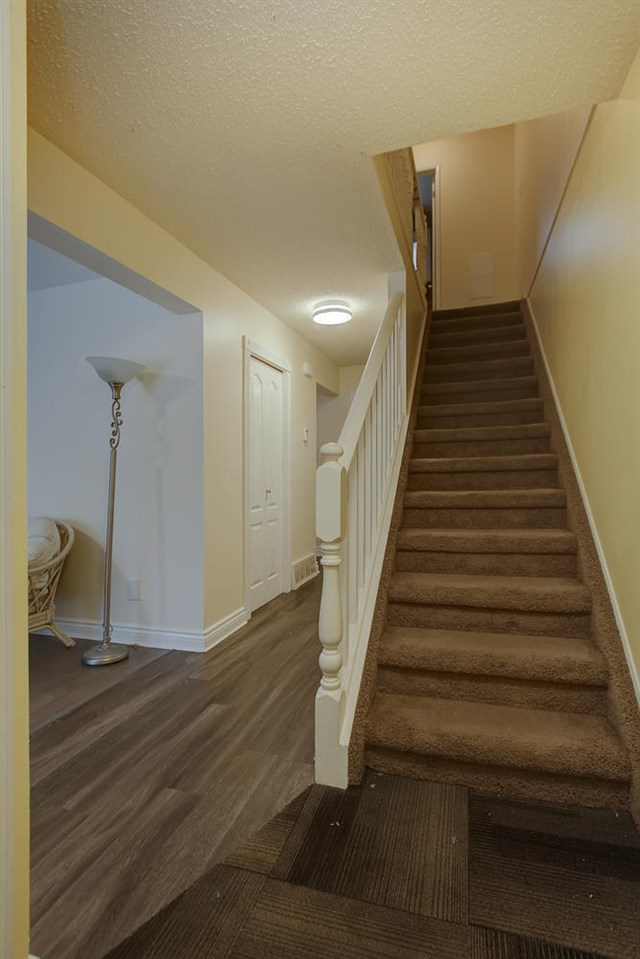From the entranceway, the stairs are close by.