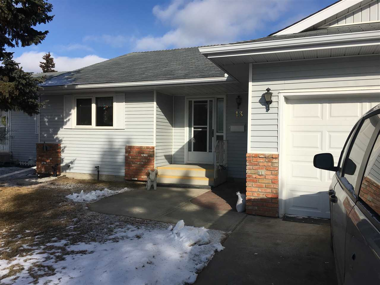 This over 45 adult condo has it all. Centrally located walking distance to Sherwood Park Mall, park areas, rec center and Festival Place this spacious  bungalow has it all. The large entrance is perfect for guests to easily manoeuver coat and shoe removal and has tons of closet space. The oversize kitchen handles large family dinners with loads of cabinets and a pantry. There is also a dining room area for entertaining. Large livingroom is bright and open with lots of windows and patio doors to a big deck. Some owners have converted the deck into beautiful sunrooms to enjoy 4 seasons. Two large bedrooms are quietly tucked away from family area. The master bedroom is huge and features a 4 pce ensuite and massive walk in closet. There is also a 3 pce bath with shower and large storage closet located conveniently across from the second bedroom. The 19'X18.5' double garage easily holds two cars with room to spare. This development is spic and span and clearly beautifully managed. Newer furnace &hot H20 tank