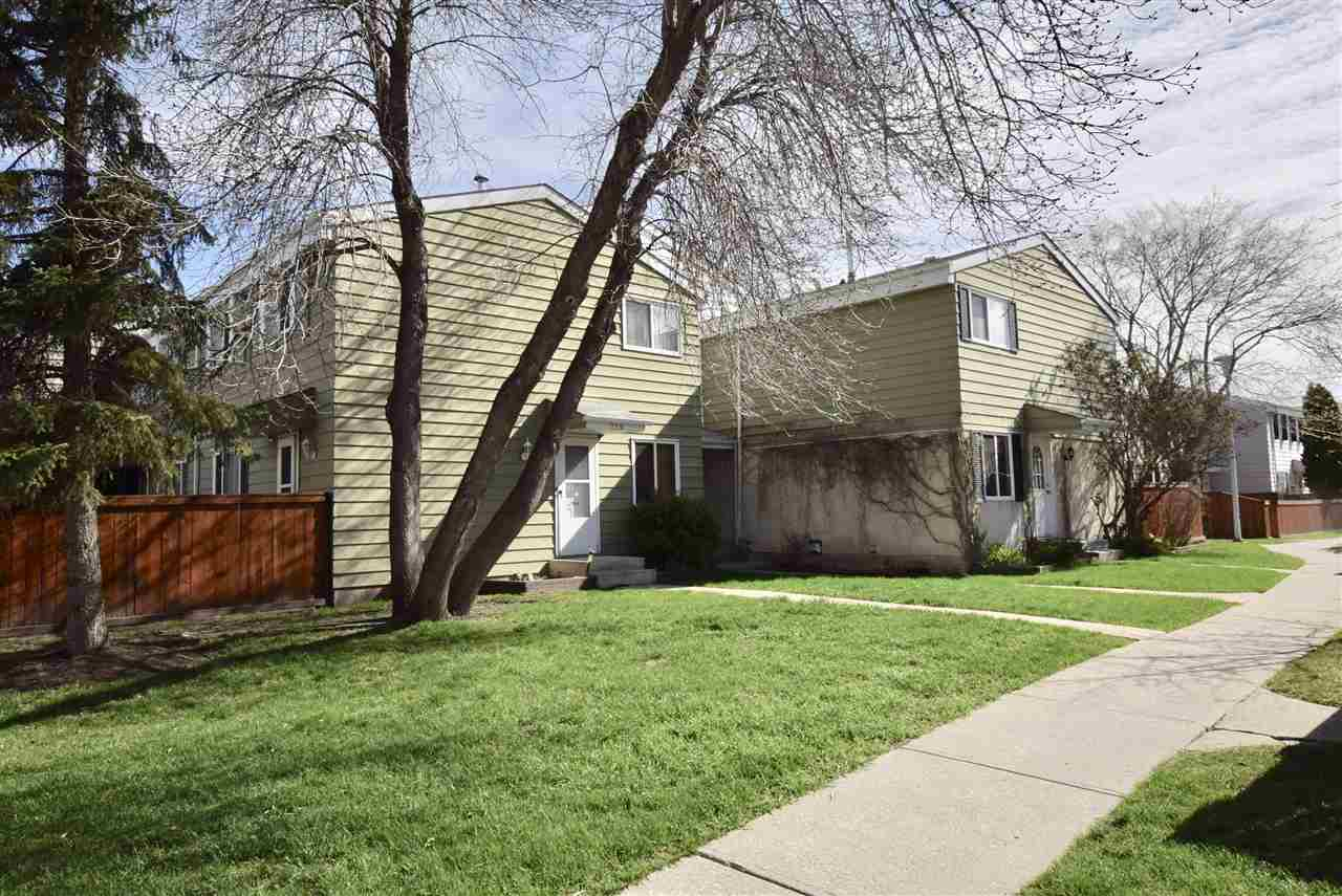 ****MINT CONDITION 3 BEDROOM WITH FULLY FINISHED BASEMENT****Your next home awaits.  This townhouse is ready to move in and comes with all appliances, 3 good sized bedrooms, fully finished basement with a large family room, computer nook, lots of storage, and a huge laundry room.  The home is very clean and has modern colours, laminate flooring, updated bathrooms, window coverings, good sized yard with a new poured concrete patio.  The walkthru kitchen is very functional.  There is a built in wall unit in the dining room that is great for storage.  This is a perfect family home or great for investment.  Close to schools, West Edmonton Mall, transit and parks makes this an excellent location.  Hurry before this one is gone.