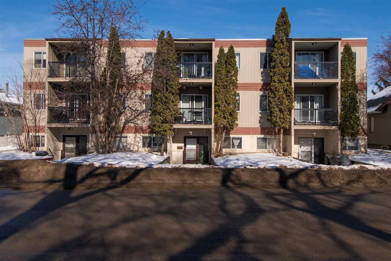 This great Top Floor condo is only minutes away from trendy Whyte Avenue and the University of Alberta Campus. Completely renovated top to bottom, this condo feels like new and features many tasteful touches throughout, including new doors, light fixtures and casing. Enjoy the beauty of the modern tiled floor and the upgraded carpet. The kitchen also features plenty of countertop and cabinet space, as well as trendy new cabinets, a gorgeous stone back splash, new counter tops and stainless steel appliances. The large master bedroom features a walk-in-closet. There is roughed laundry in the storage room for someone looking to add insuite laundry! Ideally located in the safe, established neighborhood of Queen Alexandra, this condo is close to schools, steps from bus routes, shopping and all other amenities. Don't miss out on the opportunity to move into this great home today!!!