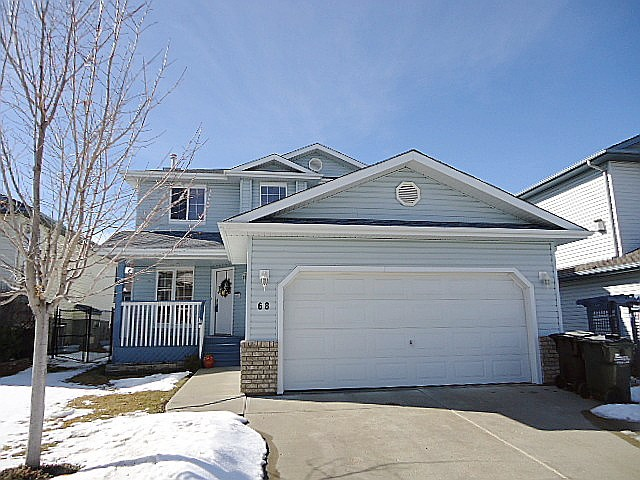Meticulously kept 2 story on quiet Foxhaven cres close to everything! Lovely plan with large open great room featuring corner gas fireplace with stately mantle & tile surround. Island kitchen with corner pantry & sunny eating nook with garden doors to west facing deck with gas line for BBQ. Main floor laundry & 2 pc powder room complete main level. Upper floor has 3 comfortable bds including large MB with walk-in closet & 5 piece ensuite featuring corner jetted swirlpool & stall shower. Main bath is a full 4 pc with easy clean 1 pc fiberglass tub/shower combo. Basement is fully finished with huge FR & RR plus another full 3 pc bath. Large storage room with organised shelving finishes lower level. Dbl att garage has separate man door to back yard. Newer deck & low maintenance yard gets sun until the late hours each day. New shingles in 2016! Good fencing including partial chain link great for kids & pets. Blocks to Strathcona Athletic Park, Bev Facey, F.R. Haythorn, wetlands,& public transportation.