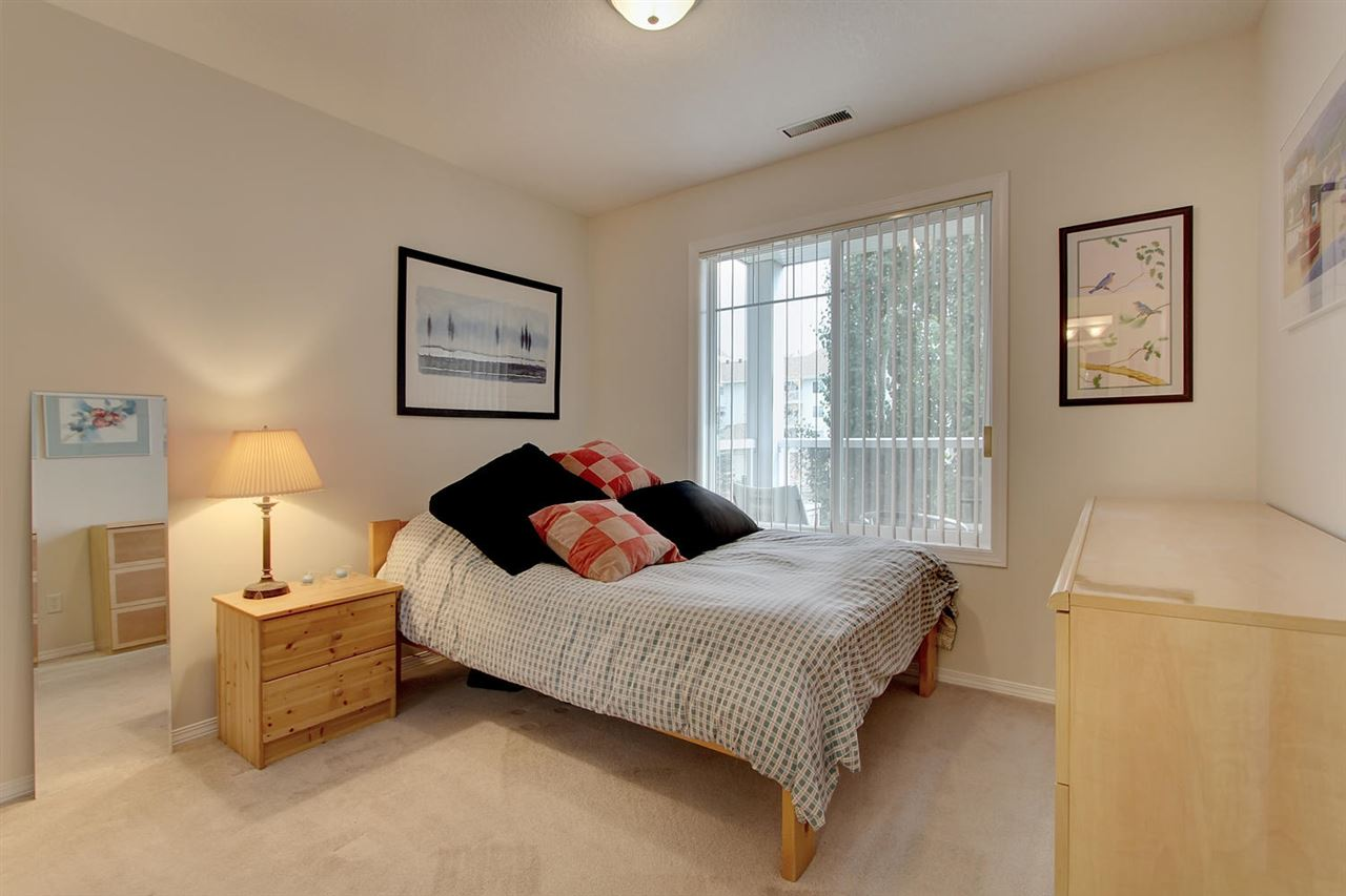 The second bedroom also faces east and has a full closet which is not common in this complex. Most units simply have a space where an armoire can be placed.