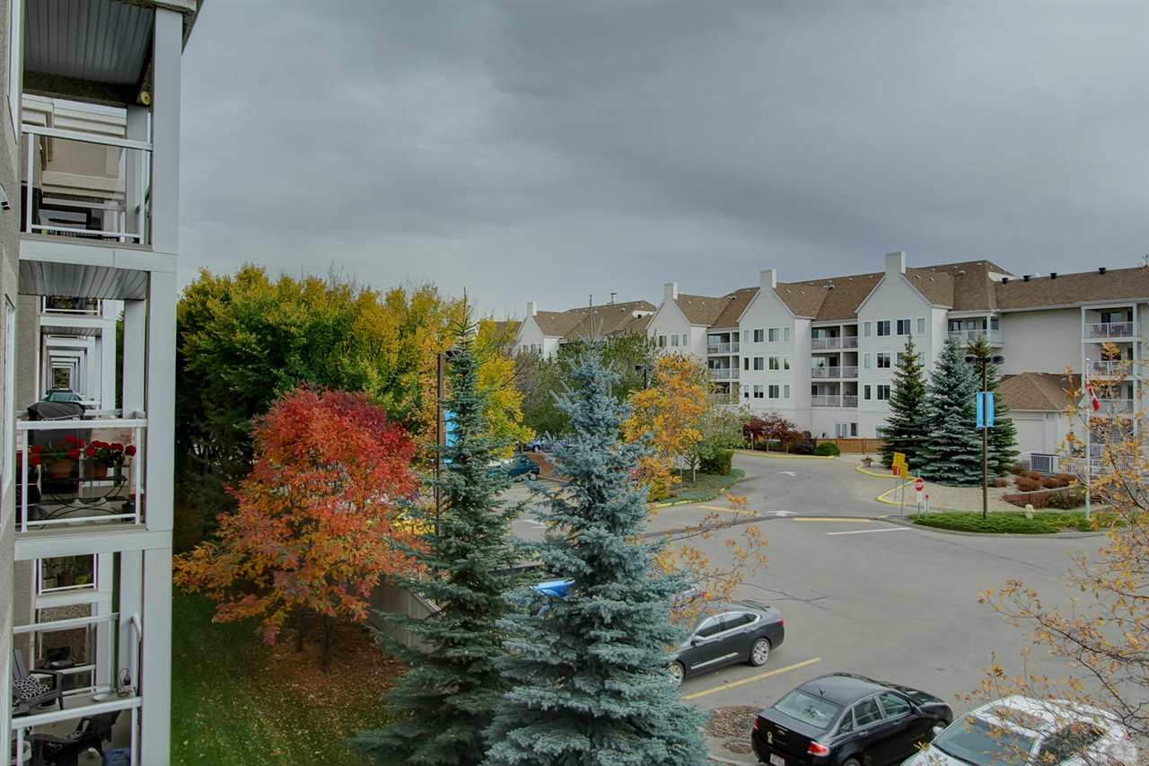 In fall, you will enjoy the lovely colours of the trees as seen out your balcony.