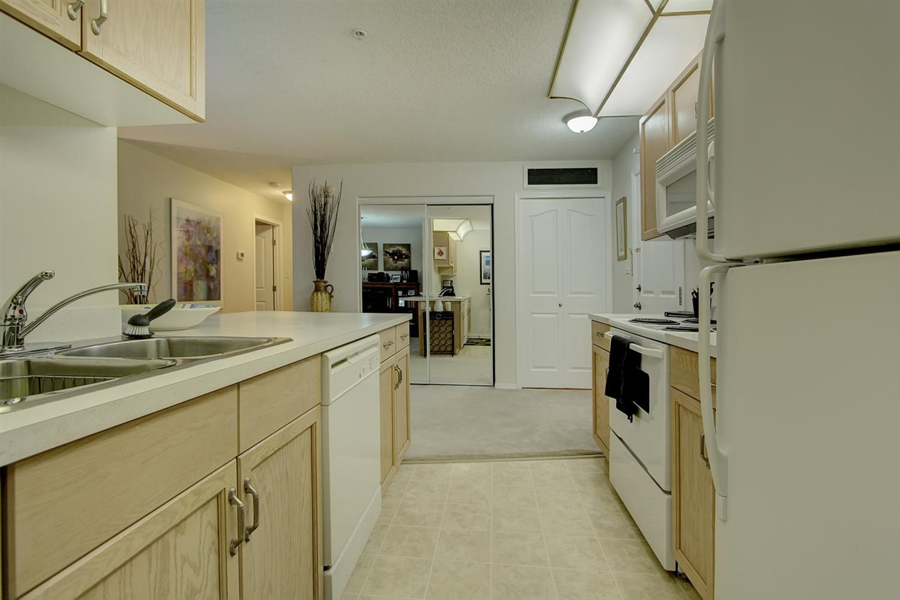 The kitchen work area is shown.