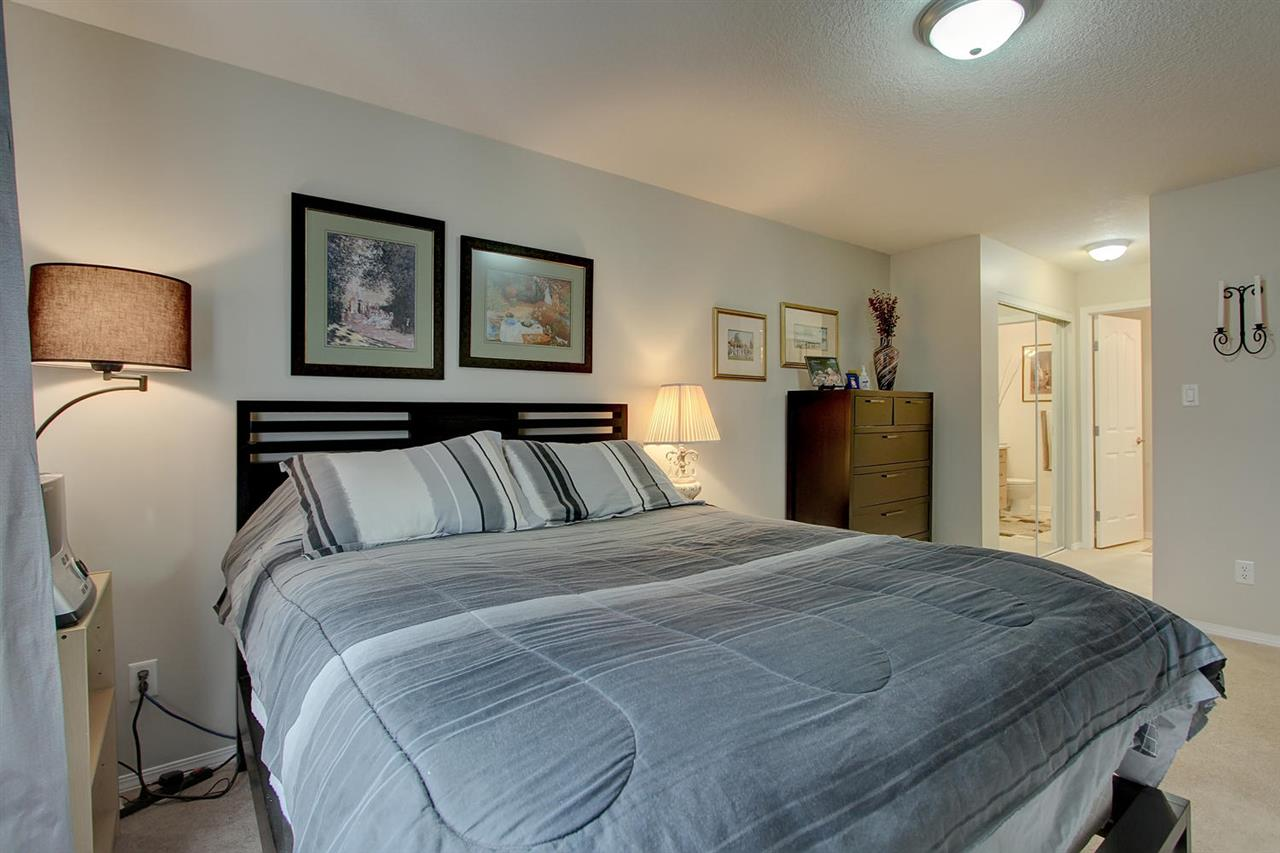 The Master bedroom has double mirror doored closets for exceptional closet space. This area leads into the private 3 piece en suite bathroom also.