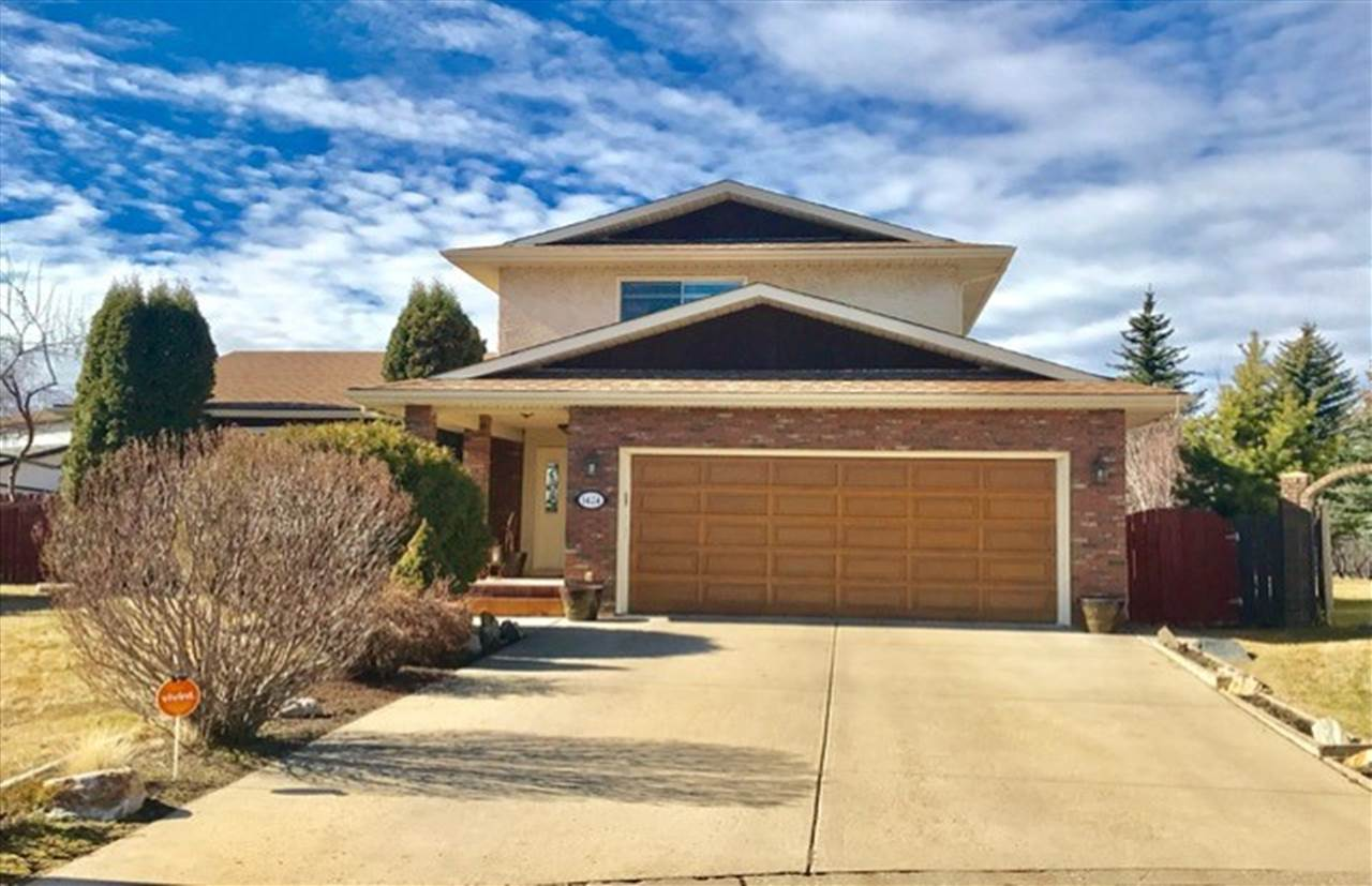 Excellent location! STUNNING 1,916 sf 2 storey home nestled in a quiet cul-de-sac, in the desirable neighborhood of Bearspaw. Easy access to school/bus stops/Century Park/South Com/Henday & all amenities!  Features total 5 bedrooms, 3.5 baths & double attached garage. Main floor you'll find large living room with bright windows adjacent to formal dining area. Spacious Open Concept Kitchen w upgraded maple kitchen cabinetry/backsplashes/under-cabinet lighting/garburator/SS appliances/island. Breakfast nook has New Bay windows. Maple-wood railing throughout. Family rm with gorgeous laminate flooring/cozy fireplace/built-in cabinets. Upper floor offers 3 good-sized bedrooms. Master bedroom with walk-in closet & 3pc en-suite. bathroom #2 w large Jacuzzi tub. Fully finished basement boasts 2 bedrooms/family/game rm/computer area/bathroom/laundry area. Newer 2 furnaces, newer Shingles, ect...Huge backyard w patio deck/veg garden/shed/nicely poured concrete sidewalk.  Don't miss out this solid & well built home!