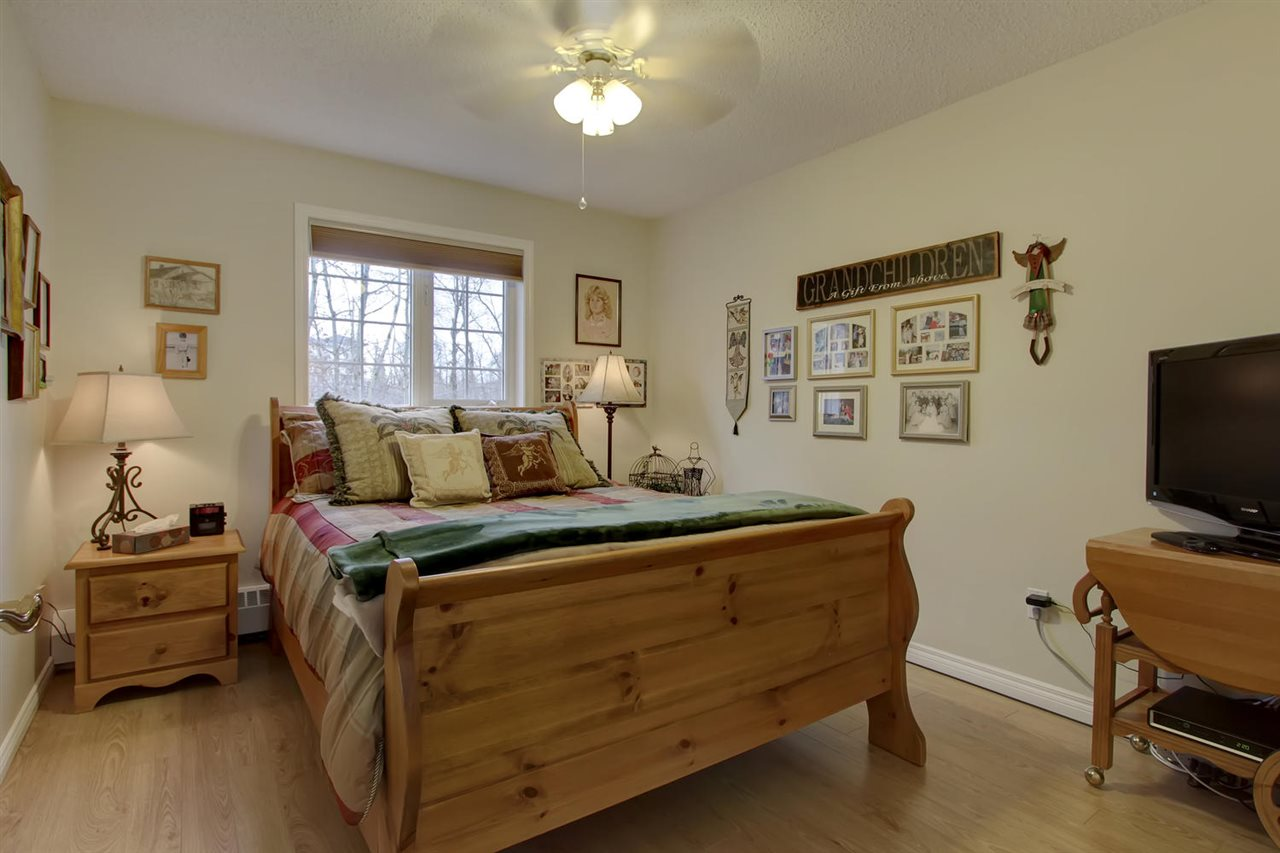 Even the second bedroom is a good size and will make your guests feel very welcome. The main bathroom is right next door to this room. The laminate flooring matches the flooring throughout except for the master bedroom.