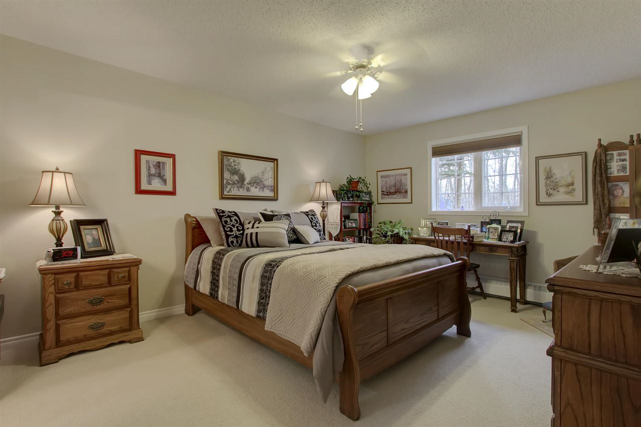Such a spacious master bedroom will be appreciated if you have a king sized bed or a large set of bedroom furniture. There will be no need to break up your set. Neutral paint and carpet give this a wonderful comfortable feeling.