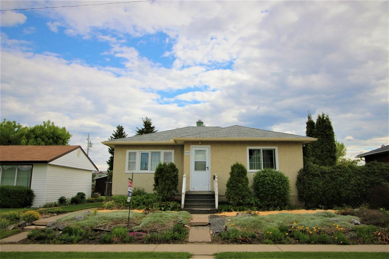 Don't miss out on your opportunity to own a MASSIVE 50' x 140' lot located in the heart of Spruce Grove! Perfect for the first time buyer, investor or someone waiting to put their handyman skills to good use. With just over 800 sq ft this cozy bungalow features 2 bedrooms upstairs, and a 4 piece bathroom. Partly finished basement completes the home with 2 additional rooms! Outside you will find a fully fenced and landscaped front and back yard. The multiple raised garden beds and abundance of perennials are perfect for the green thumb in the family! Come check it out today!