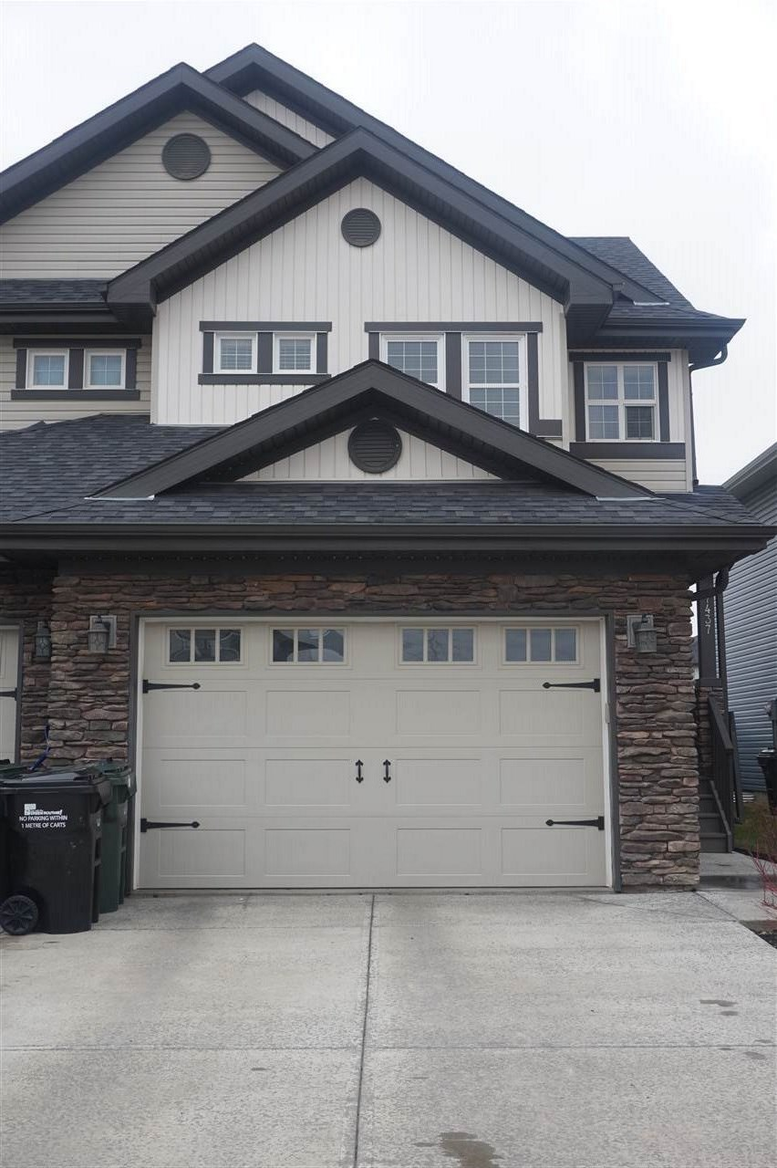 A must to see! You will love this well cared for half duplex with an over sized single garage,fully finished basement and located close to all amenities. Bright main floor featuring a kitchen with granite countertops, stainless appliances and dining room with access to deck and fully landscaped and fenced yard. Corner gas fireplace in living room. Upstairs you will find 3 bedrooms, Master is spacious and has a 3 pce ensuite and walk in closet. Ready for you to call home!
