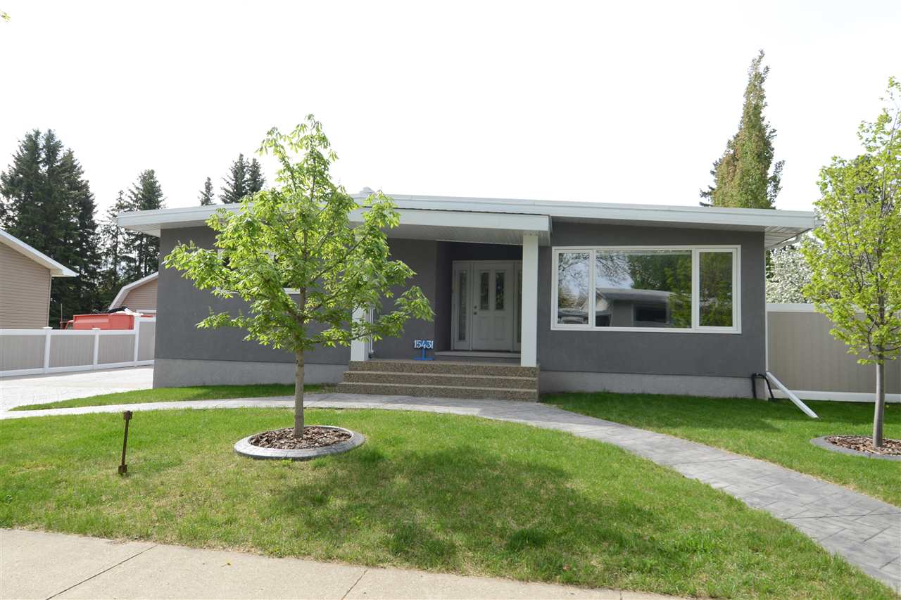 FULLY RENOVATED EXECUTIVE STYLE BUNGALOW ON LARGE LOT IN PRESTIGIOUS RIO TERRACE! Home offers 1,643sqft of living space /w 6 bedrooms & 3.5 baths. It is an anomaly for the neighbourhood in both it's expansive size & extensive upgrades. Modern kitchen offers tons of maple cabinetry, sleek black appliances & cozy breakfast nook. Generous size master w/walk-in closet & 3pce ensuite. Fully finished basement has huge rec space w/convenient gas fireplace & custom built-ins, add. 3 bedrooms, 4pce bath, wet bar & storage. FEATURING main floor laundry, A/C, water softener, central vac, new torched membrane roof, triple pane argon filled windows, upgraded plumbing, electrical, furnace & attic insulation plus hot tub, composite deck, landscaped, no maintenance fence, stamped concrete & exposed aggregate driveway & walks. Close to river valley & trails. Walking distance to playground, outdoor ice rink, tennis courts, soccers fields & French Immersion & German Bilingual school. A place you will be proud to call home!