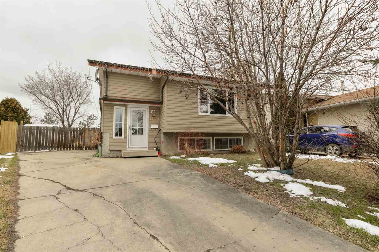 Great opportunity in Carlisle backing onto Park & Pond! This Bi-level has Many updates done over the years including Lighting, Laminate Flooring, Carpets, Updated Kitchen, Countertops & Backsplash, Furnace, HWT, Siding, Eavestroughs, Windows on the upper level, exterior doors & a renovated bathroom upstairs.  Upstairs has a large living room with a wood burning fireplace, a large dining room space with an updated Kitchen & Kitchen nook.  There are 2 bedrooms upstairs & a full bathroom that has been renovated with a soaker tub, surround, toilet & vanity.  Downstairs offers large windows, 2 additional bedrooms, another full bathroom & another family room for you.  Outside has a huge deck for you to enjoy the great view of the park & pond behind you that also gives you direct access to the walking path.  Great location close to schools, shopping & easy access to Anthony Henday & Yellowhead. This is a must see!
