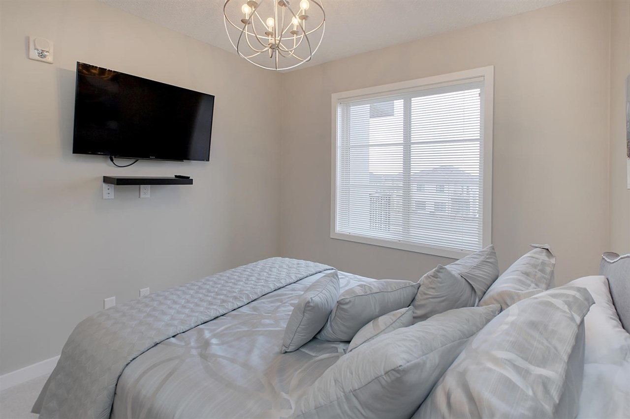 The windows in each bedroom look to the south west giving you nice light. Note the interesting light in this bedroom.