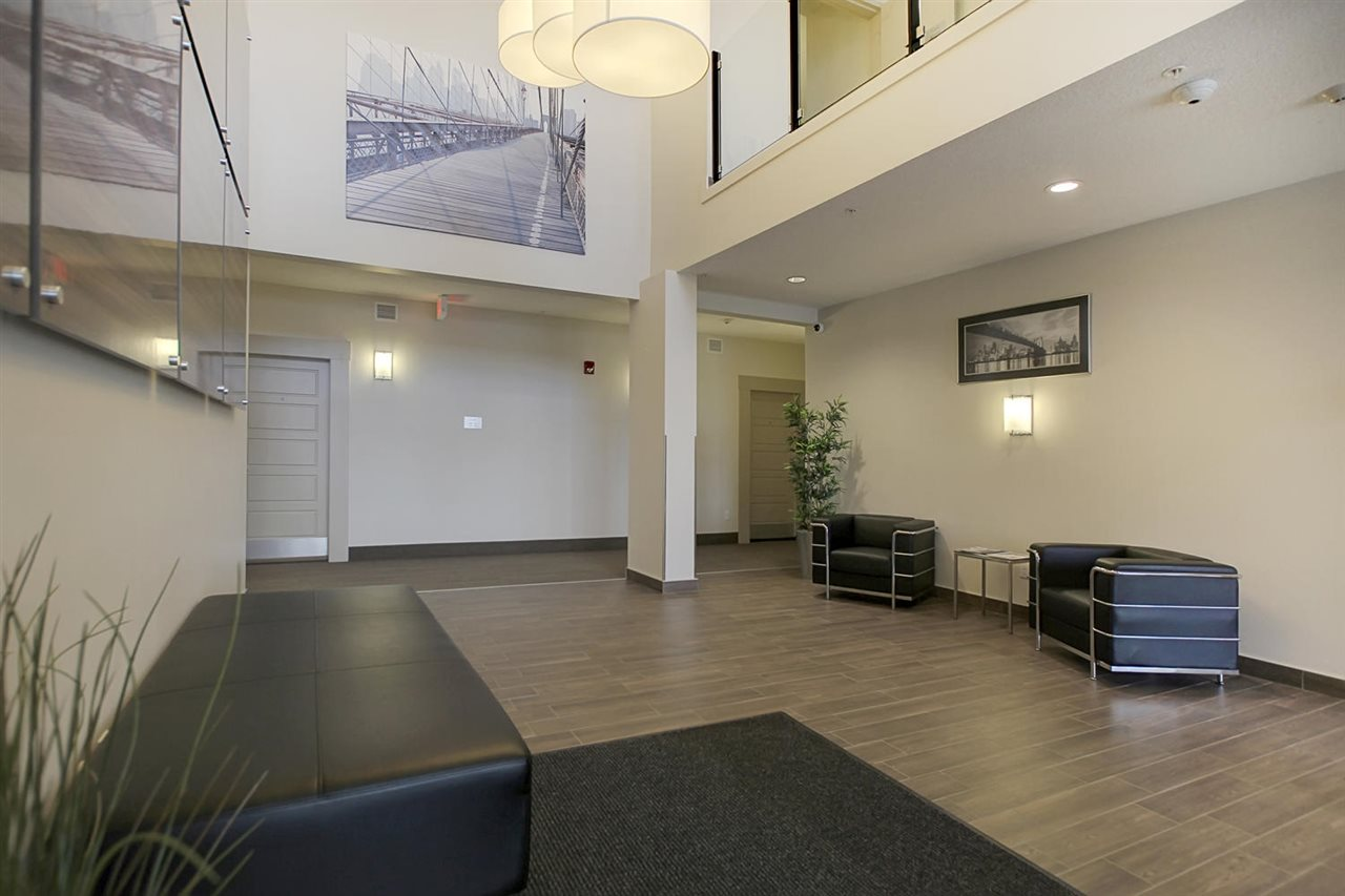 Another view of the two storey lobby.
