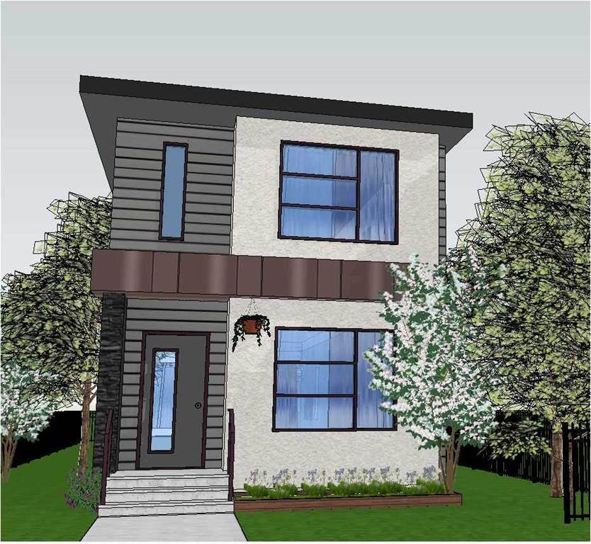 Pre-selling modern brand new 3+1 bedroom two-storey home located on a quiet tree lined street in King Edward Park. Walking distance to Millcreek Ravine, Whyte Ave., Bonnie Doon Mall and a new LRT line. Lots of infill in a mature neighbourhood. Main floor has flex room, dinning room, kitchen and open family room with gas fireplace. FINISHED BASEMENT has a large family room, bedroom, full bathroom and storage. Well thought out floor plan that has 9? ceiling on main floor and 1810 sq.ft. of living space on two floors plus 889 sq.ft. of finished basement, giving the home a spacious feel. Home also INCLUDES sidewalks, landscaping, fence and 19?X22? double detached garage. All this for $629,900, GST included. Built by Linhan Developments - builder specialises in infill homes in the area!