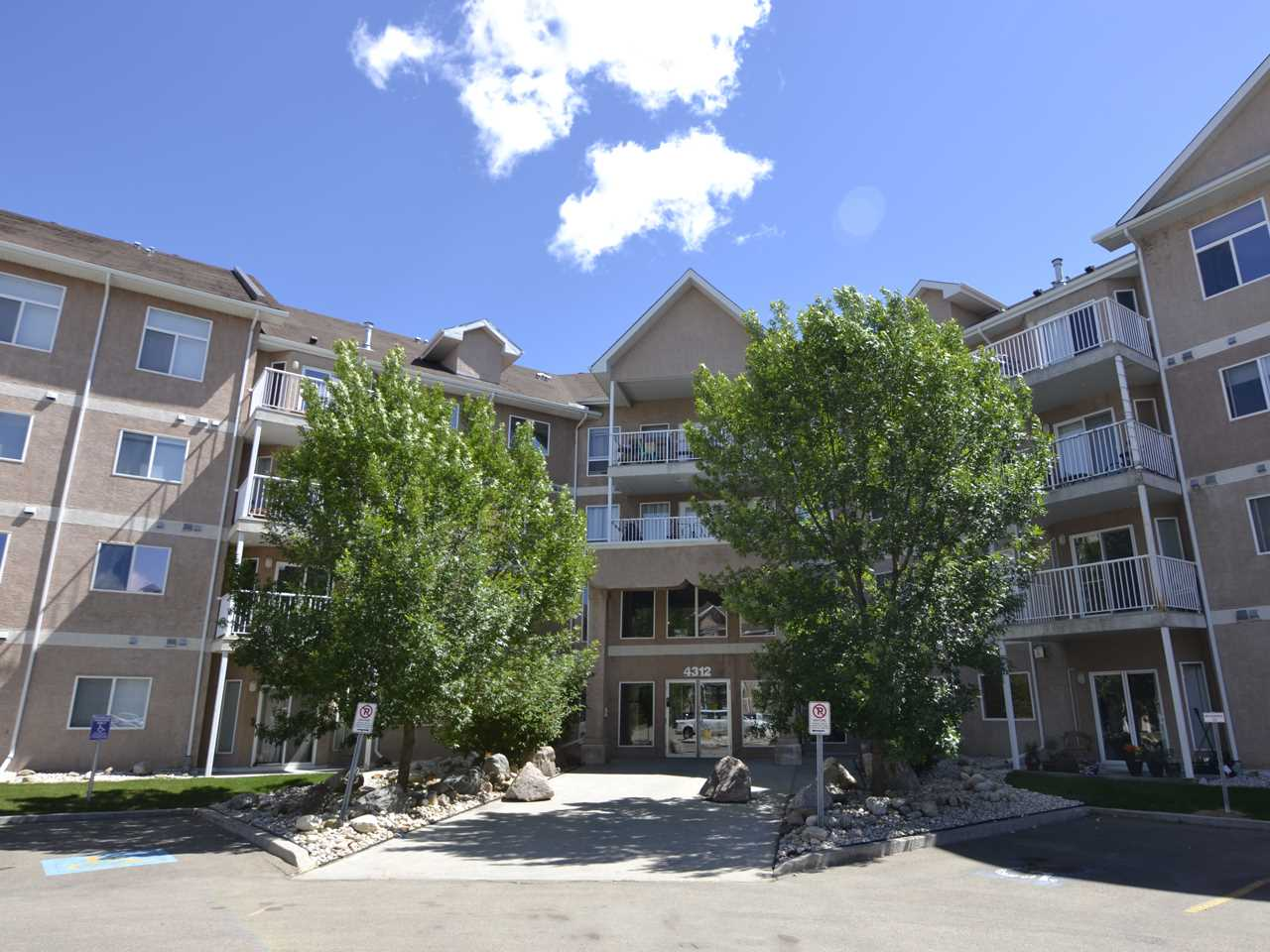 This is the ultimate property for a walkable lifestyle - only a hop and a skip to the Clareview Rec Centre, the Clareview LRT station, and shopping and restaurants. And it has great access to the Manning Freeway and Anthony Henday Drive! The Estates at Clareview is home to a fabulous amenities centre with full gym, pool table and shuffleboard games room, and an event room you can rent out for those family functions. And there are outdoor putting greens to keep you practiced! If that wasn't enough on it's own, you'll love this ground floor unit with it's 9' ceilings, open flow floorplan, natural gas fireplace, and big kitchen! There is a master suite that is HUGE, with a closet to match and ensuite bathroom, as well as a second bedroom and bathroom and den/storage room. This unit has park views from its patio AND there is underground parking and storage cage AND there is insuite laundry! It truly is the perfect place. Don't wait to come and check it out for yourself!