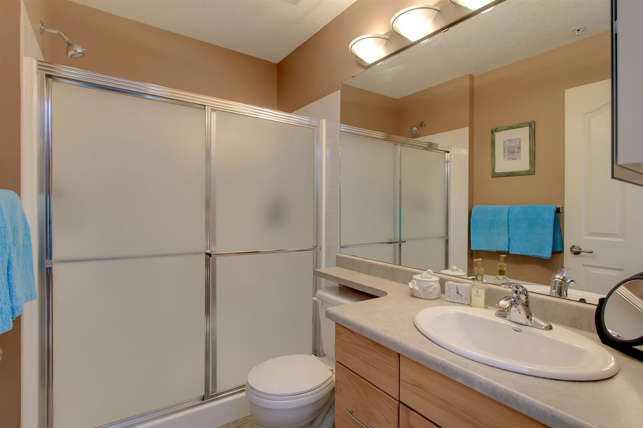 The Master En suite bathroom has a very rare find... a double walk in shower. This is much handier than a second tub or a smaller shower  stall  that you find in most units.