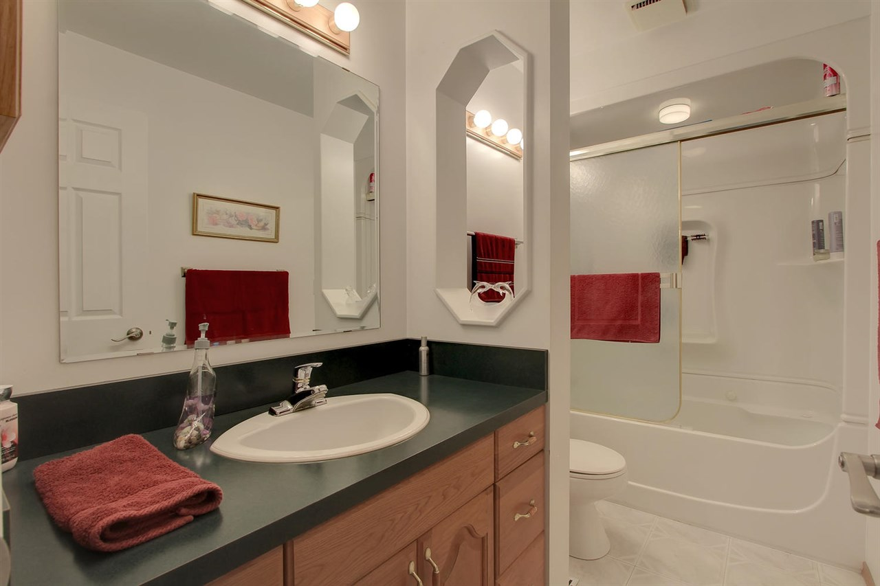 The main bathroom is well designed and has been updated.
