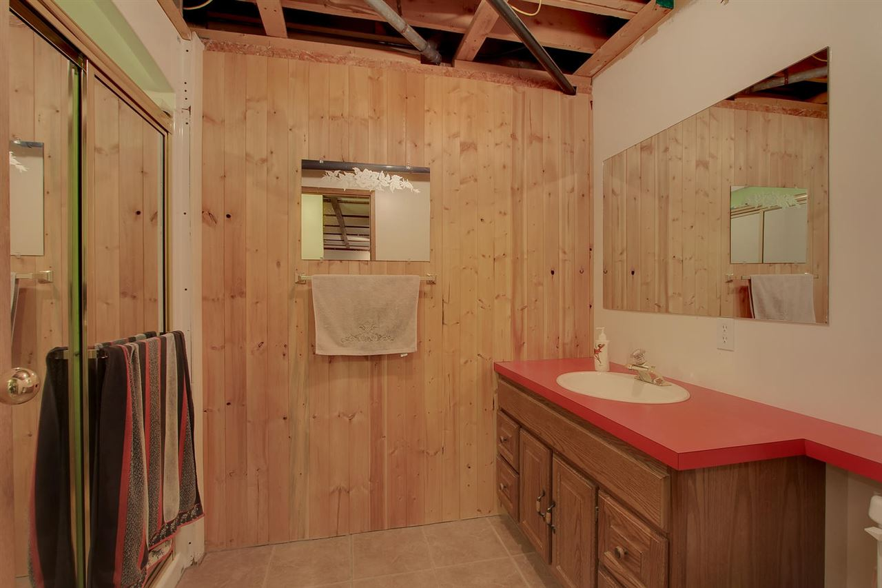 The handy 3 piece bathroom in the basement makes it more functional for using the basement.