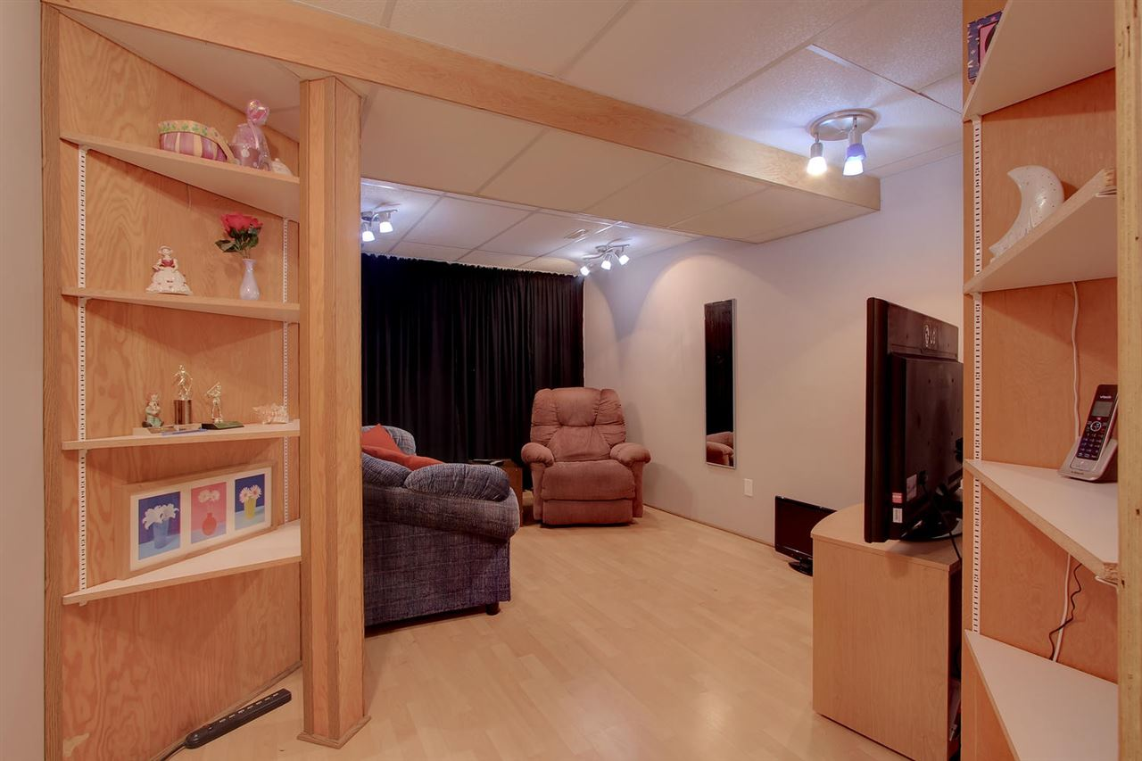 Built in storage in the downstairs den gives you options to display your treasures or store your dvd's in a potential media room?