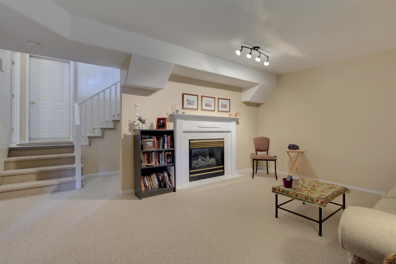 On the lower level, you will find a family room complete with a gas fireplace. This room will be well used and has both a full bath off it and the third bedroom which makes sharing easy or a guest bedroom with amenities to keep your privacy upstairs.