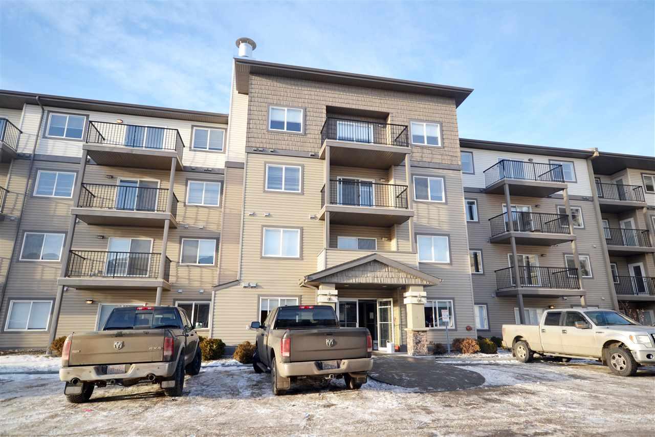 GREAT LOCATION....CLOSE TO LRT....NEWLY RENOVATED.... MODERN OPEN CONCEPT. The bright entrance welcomes you into this gorgeous inviting unit. To the right of the entrance is convenient in-suite laundry and a great sized closet. To the left the beautiful kitchen area featuring tons of cabinetry, newer appliances and a lovely breakfast island. Adjacent is the living room looking out onto the BBQ deck, flooding the room with natural light. Ideally located in the complex,  the balcony is private facing the trees not the parking lot.  This unit has a spacious bedroom with large closet and a 4 pc bathroom as well! Onsite exercise facility, nearby shopping, public transit, LRT Station across the complex and affordability are just a few reasons this suite is so fantastic! Easy access to commuters also makes this the perfect place to call home!