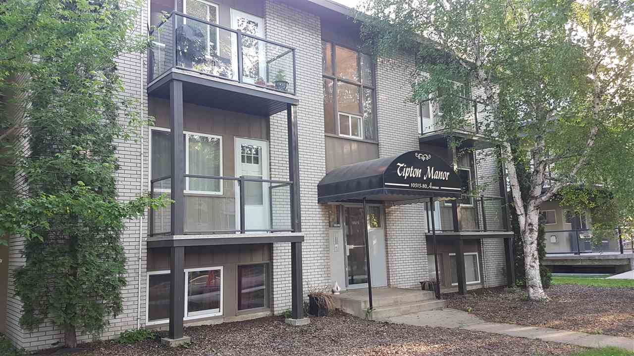 Location! Location! Close to U of A and just steps to Whyte Avenue. This immaculate 2nd floor unit, 1 bedroom and 1 bath has just all been redone. New kitchen counter tops, laminate flooring, bathroom has been redone, freshly painted in modern colors.  This is one of the more desirable locations in the city. Just minutes from your doorstep are restaurants, shopping, festivals, parks, schools, river valley and most everything else that you will ever want.  Glass enclosed balcony to enjoy those beautiful summer evenings.  Low condo fees. Situated on a very nice and quiet tree lined street. Very bright and move in ready!