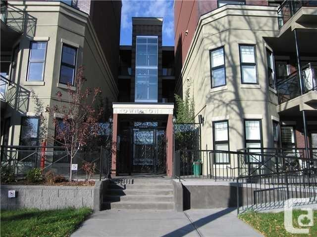Looking for a Pet Friendly condo near the U of A? This beautiful like new condo is in the perfect location! Offering 2 bedrooms and 2 full bathrooms, Hardwood floors and slate tiles with comfortable carpet in the bedroom. This unit comes with 6 appliances including in-suite washer and dryer and all window coverings. Cement patio comes with gas line for your BBQ. Brownstones 2 building is a gated complex and in a perfect neighbourhood in Queen Alexandra and very close to the University of Alberta and many amenities. Also comes with a TITLED HEATED underground parking stall. Perfect for investment property or move in ready!