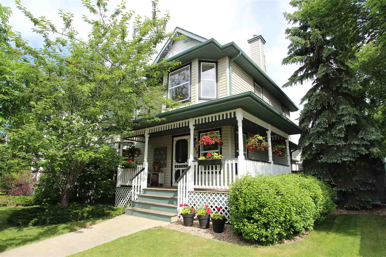 No sacrifices here: gorgeous home, huge yard, plenty of parking for toys and a great location. This 1634 sq. ft. 2 storey has 3 bedrooms and a den and a functional great-room layout. And it has been EXTENSIVELY upgraded with luxury features that need to be seen. The house is the star but the oversized (22x22) garage, massive deck, RV parking on oversized driveway, and an ideal location in family-friendly Terwillegar Towne are better than icing on a cake. So let?s talk upgrades: extra windows mean more sunlight to emphasize features such as the 2-storey foyer, slate flooring, a 3-way fireplace and a GORGEOUS renovated kitchen, with quartz counters, walk-in pantry, glass tile backsplash and stainless steel appliances. Families will appreciate the spacious bedrooms, including the large master with ensuite and walk in closet. New HWT, 50 yr shingles, and central vac are just a few are just a few of the many extras. This home is truly one-of-a-kind, but you?ll have to hurry to Tanner Wynd.
