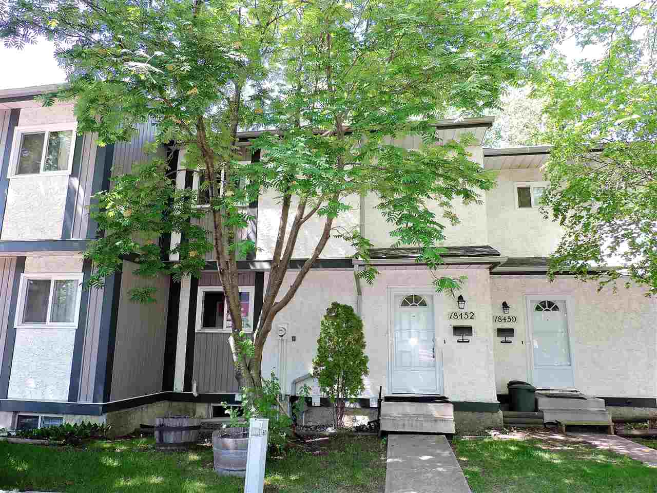Great west end location in the Ormsby neighbourhood. 2 storey townhouse in Kylewood Court.  Backs onto walking trail.  3 bedrooms and 2 baths. Laminate flooring throughout the main floor.  Large living room with patio doors to back yard. Fully finished basement. Brand new carpet in the basement & on basement stairs installed October 2017.  Walking distance to Ormsby Elementary and S. Bruce Smith Junior High.  New high efficiency furnace in September 2016.  Well managed complex.