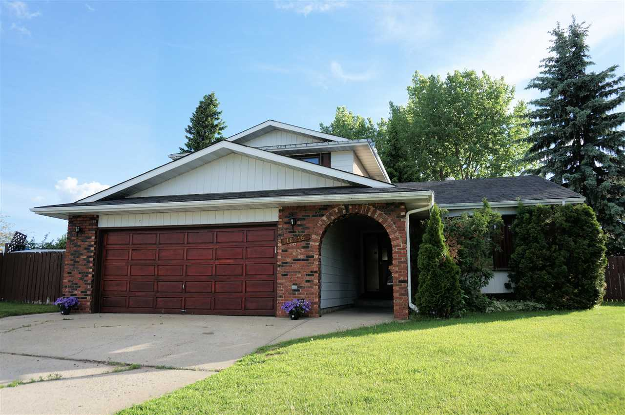 GREAT VALUE FOR A BIG HOME!  This 2 storey 2,005 sq.ft. home with double attached garage in Dunluce, is perfect for your family.  Efficient floor plan on main provides: bright living room with bay window, formal dining room, kitchen with newer stainless steel appliances, family room with wood burning fireplace, office/4th bedroom, 2pc bath, separate entrance and laundry area. Upstairs offers Master's Retreat with ensuite, 2 additional bedrooms, and 4pc bath.  The partially finished basement has a large flex area and 3pc bath.  HUGE 8,900 SQ.FT. PIE SHAPED south west-facing backyard is fenced, and comes with large deck, fire pit, and storage shed.  Well situated to take advantage of the shopping and amenities nearby as well as quick access to major routes. Some TLC required.  PRICED TO SELL!