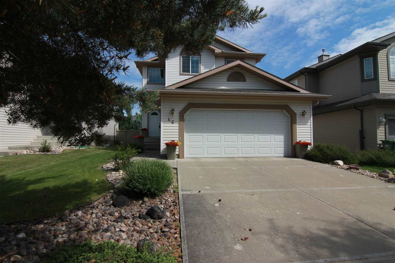 Discover this fantastic FULLY FINISHED home in family friendly Erin Ridge. Enter into a spacious 2 storey front entrance with tile flooring. The main floor is OPEN CONCEPT with a bright and sunny great room with HARDWOOD FLOORS and GAS FIREPLACE. The kitchen has an abundance of counter space, large island with eating bar, corner pantry and dining area with sliding glass doors to the back deck. Completing the main floor is a half bath and MAIN FLOOR LAUNDRY. The upstairs features 3 LARGE bedrooms and a main 4pce bath. The master bedroom has a WALK IN CLOSET and 4 pce ENSUITE. The fully finished basement has a huge family room with pot lights, 3pce bath and storage room. Additional features include FULLY FINISHED attached double garage, fresh paint, newer fixtures and new hot water tank (2016).