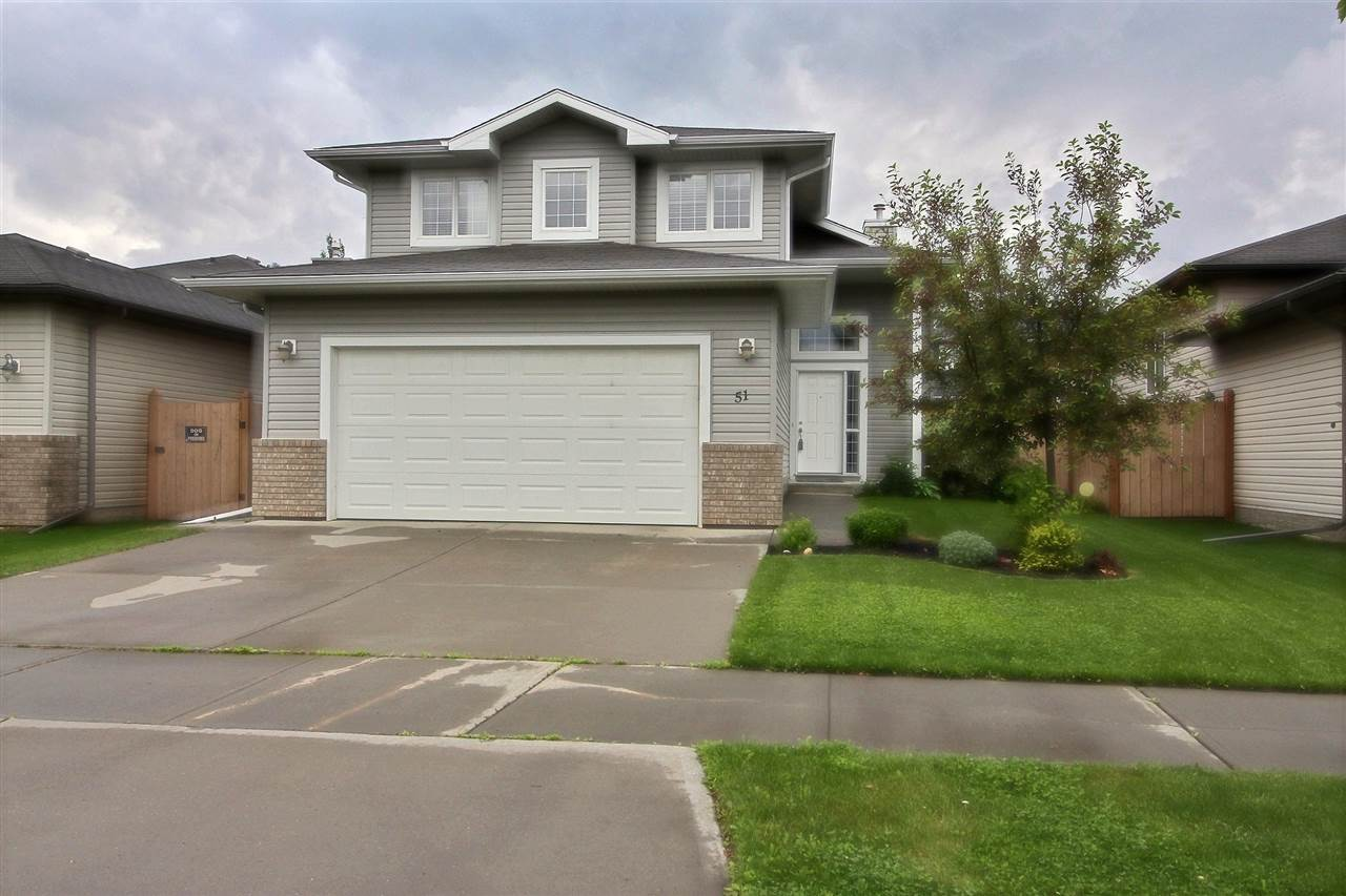 This incredibly cozy 1460 sqft bi-level located in Leduc is second to none. The LARGE fully landscaped backyard is...WOW! Inside you will find a large kitchen with S/S appliances, ample storage and island w/breakfast bar. The eating area over looks the spacious living room, the perfect place to curl up by the fireplace with a good book. Large windows in this home facing the back allow all the natural light in, with a great view into this GEORGEOUS backyard. Fire pit, playground, concrete patio, huge deck... an entertainers oasis. In this home there is central air conditioning with 3 bedrooms on the main floor and 2 in the basement. The Master in particular is generous, with a walk in closet and ensuite w/corner soaker tub & shower. Downstairs is fully developed and hosts a laundry room, storage space and rec room. The windows down here are so large you almost forget your in a basement! This home is move in ready, don't wait!