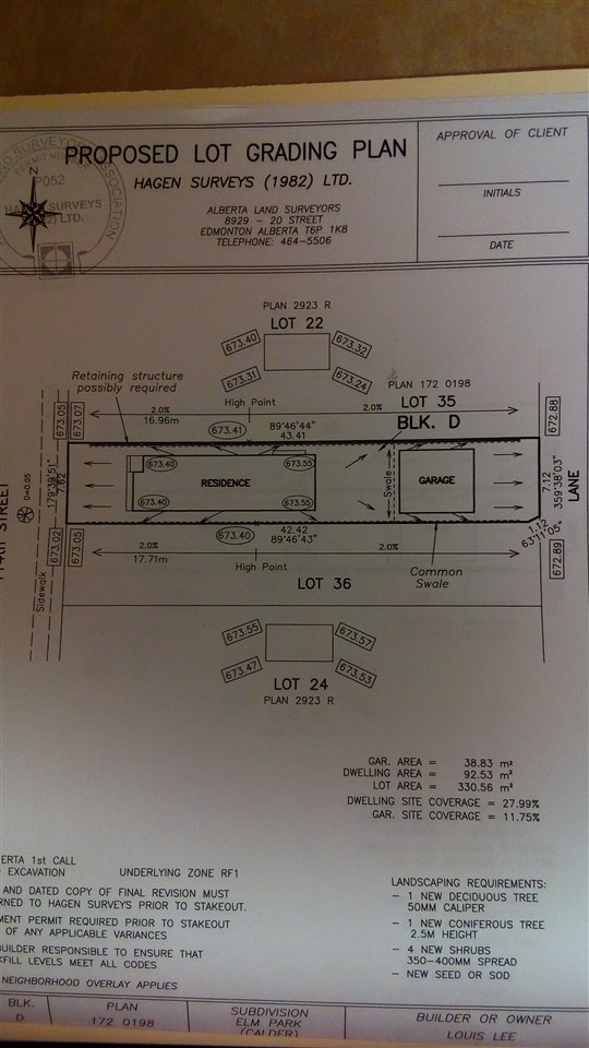 Vacant Lot. 25 ft x 140 ft. Sub division completed. Ready to build. The southern lot 12935-114 st is also for sale.
