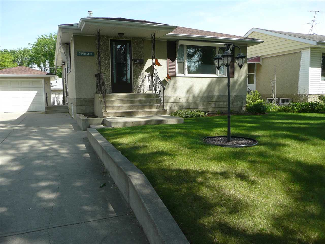 "Solid 3 bedroom bungalow in a great Holyrood location. Same owner for decades. This is ""Grandmas"" house. There have been upgrades as needed over the years. A new sewer line and backwater valve has been installed. Upgraded 100 amp service,furnace, and newer shingles. Could use some cosmetic touchups. Great starter home or a perfect place to downsize for an empty nester. There are a couple of new infill 2 storey home a few doors away. There are some new amenities in the works for Holyrood. Bonnie Doon pool will be reopening soon. The future LRT will only be a few blocks away. A short drive to city center and Whyte Ave. There is loads of potential with this well kept home."